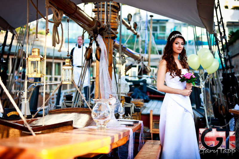 201304 bridal wedding hms pickle gibraltar 0005 - Nelson's Tall Ship Pickle Provides New Wedding Venue