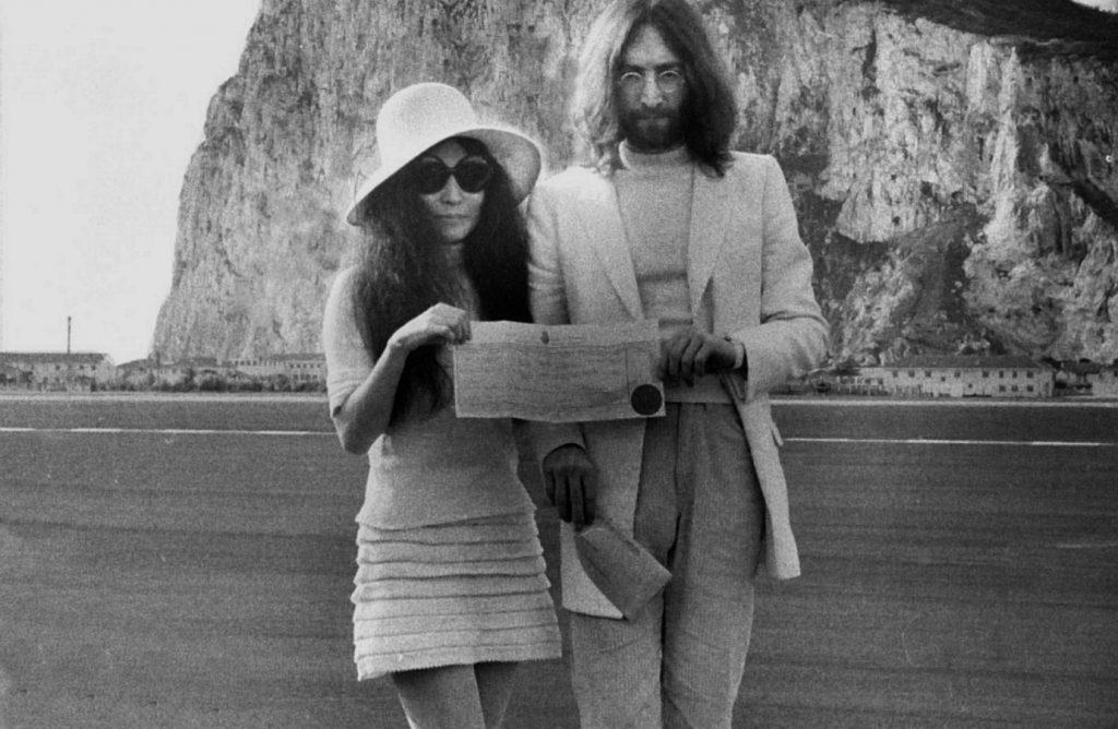 John Lennon Yoko Ono Gibraltar 1024x668 - The Airport Runway in Gibraltar