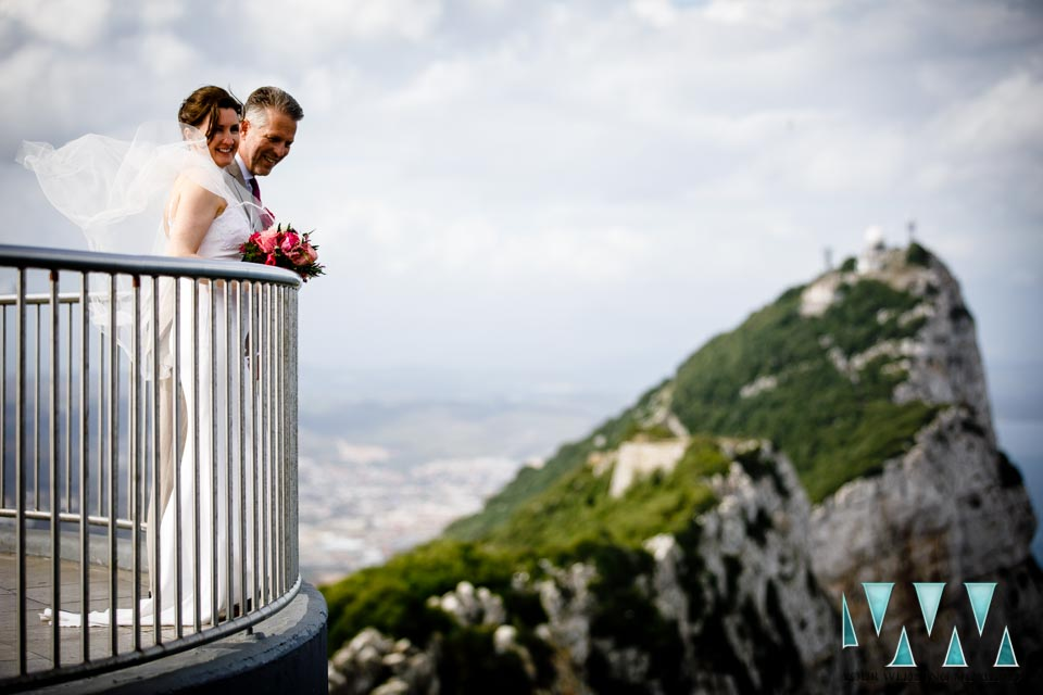 Wedding Photography on top of the Rock in Gibraltar