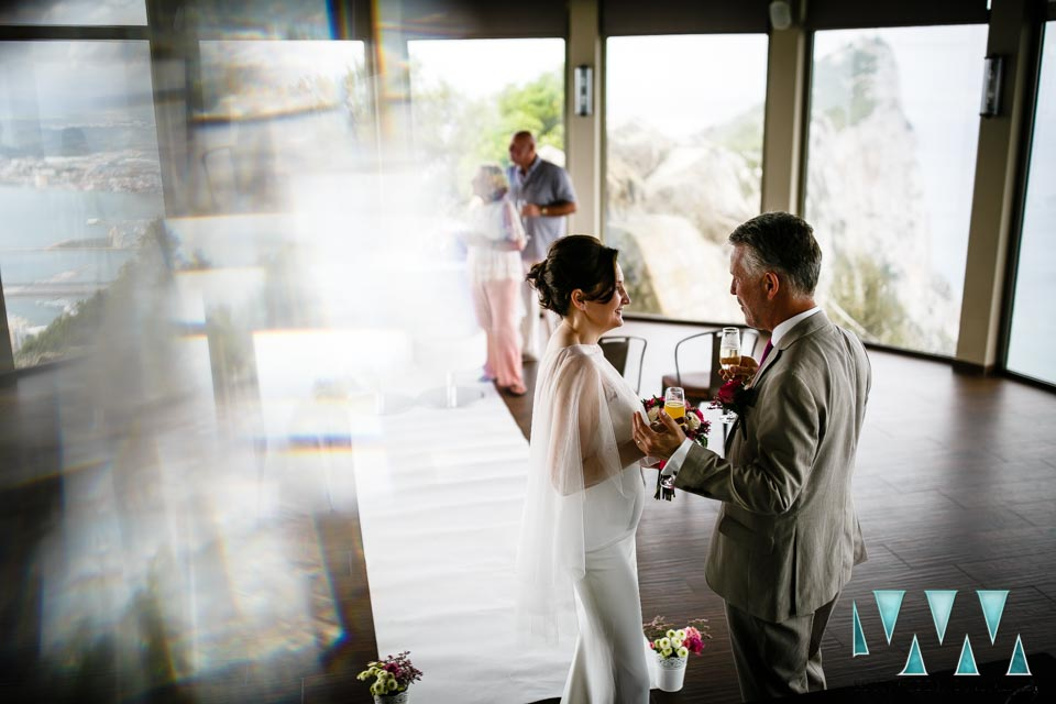 Wedding in the Mons Calpe Suite, at the top of the Rock in Gibraltar