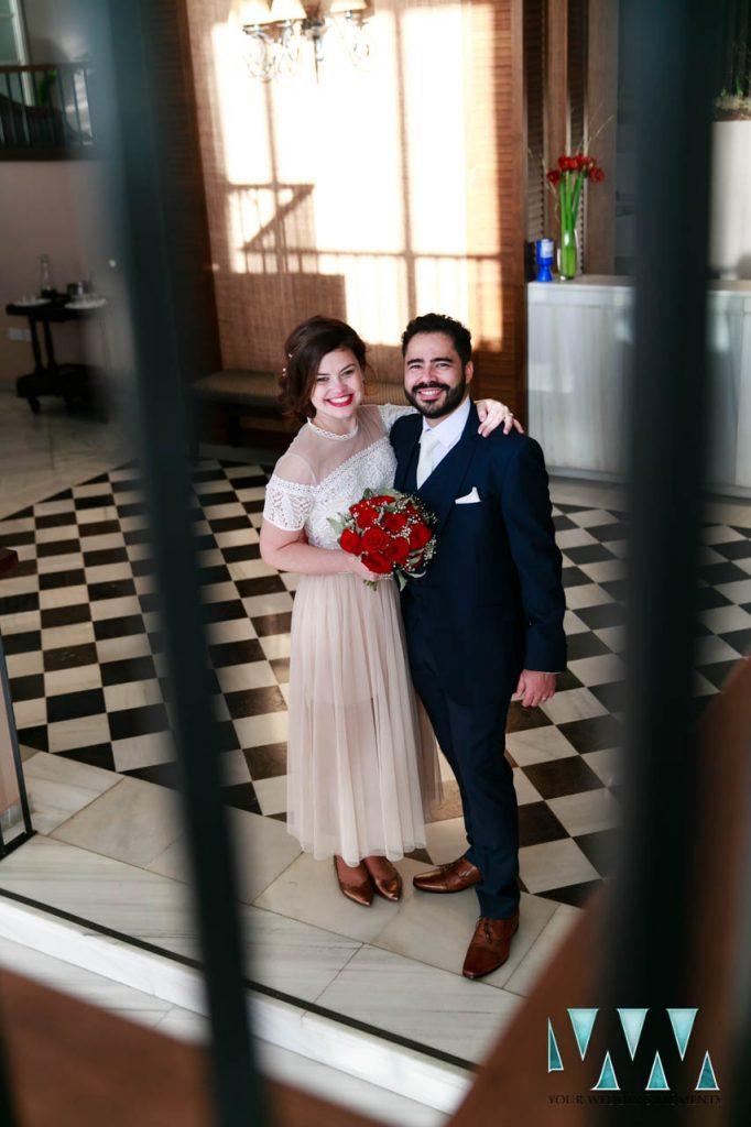 The Rock Hotel Gibraltar wedding reception