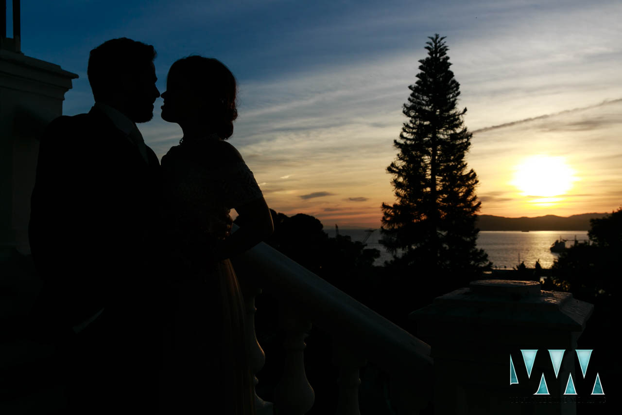 the-rock-hotel-gibraltar-wedding-sunset at the hotel