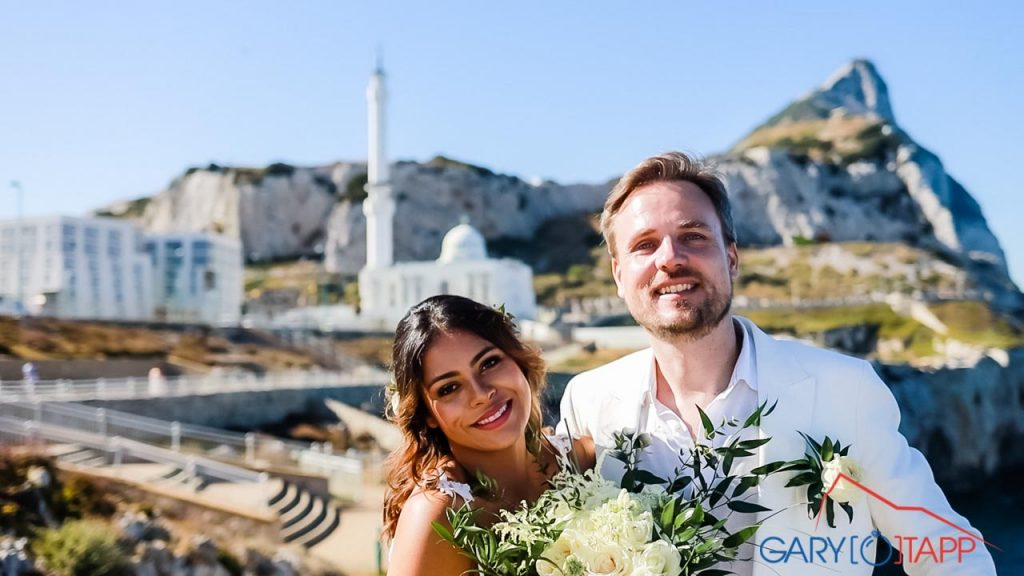 Post ceremony photos at Europa point Gibraltar