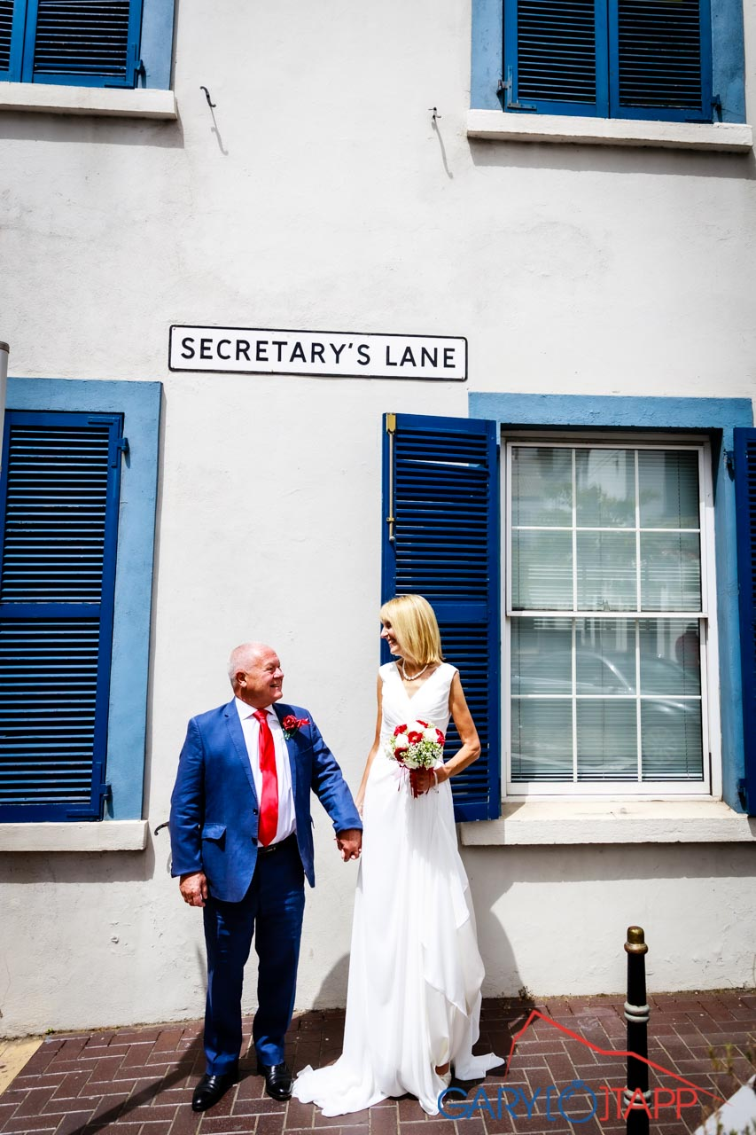 Registry Office wedding Gibraltar at Secretary Lane