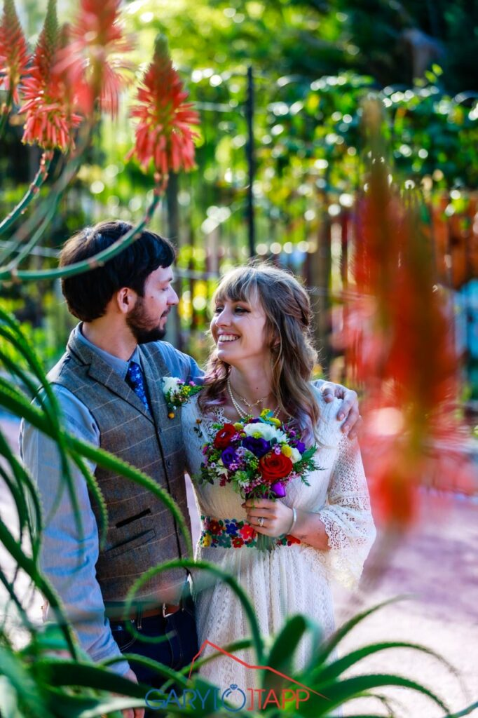 Botanical Gardens Gibraltar Bride and Groom photo session