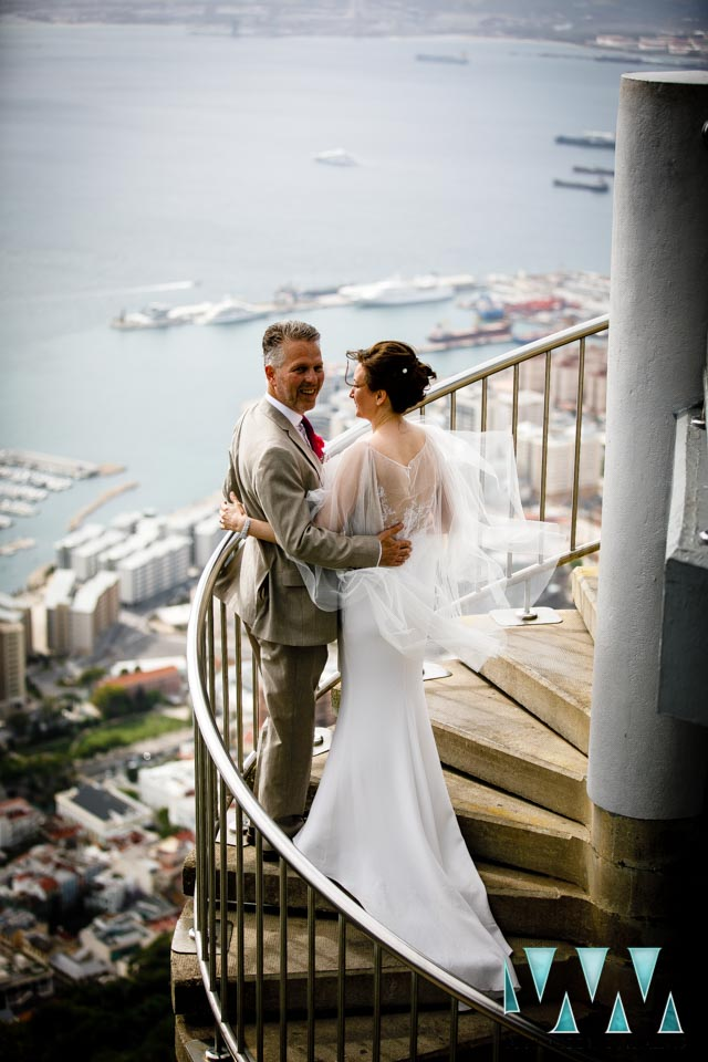 mons calpe suite wedding on the spiral stairs
