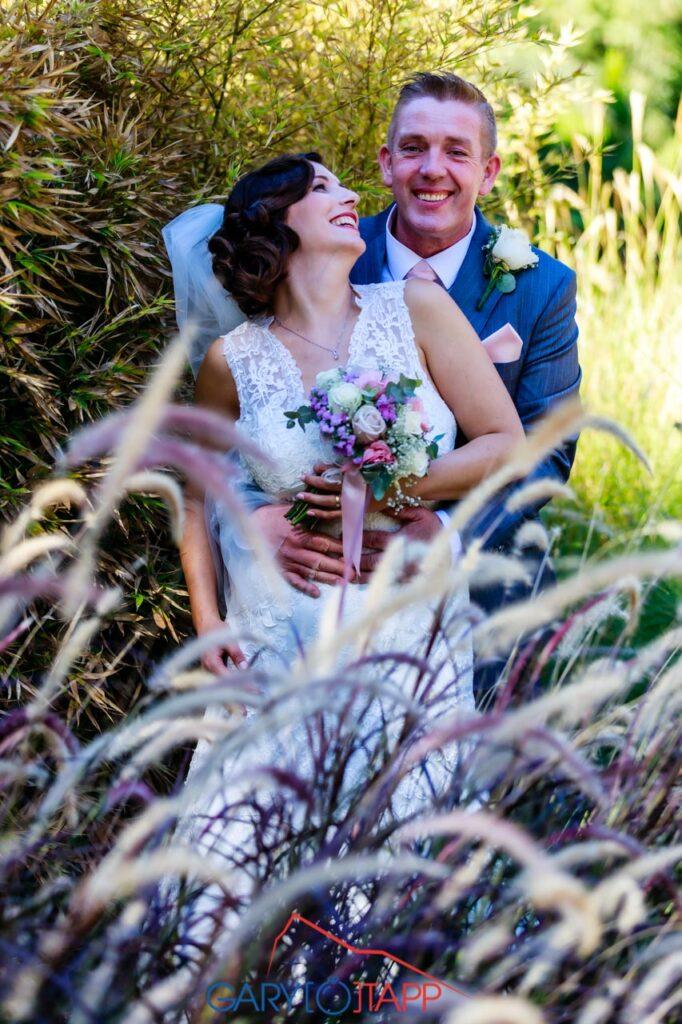 The Botanical Gardens Gibraltar Bride and Groom